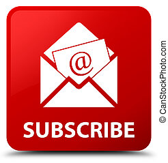 Subscribe (newsletter email icon) red square button - ...