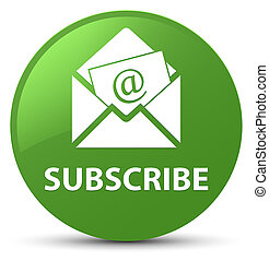 Subscribe (newsletter email icon) soft green round button - ...