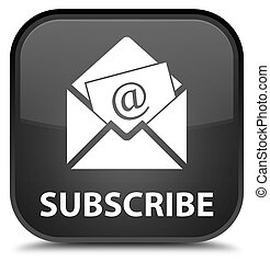 Subscribe (newsletter email icon) special black square button