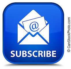 Subscribe (newsletter email icon) special blue square button