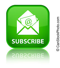 Subscribe (newsletter email icon) special green square button
