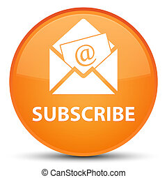 Subscribe (newsletter email icon) special orange round button