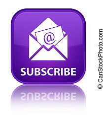 Subscribe (newsletter email icon) special purple square button