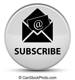 Subscribe (newsletter email icon) special white round button