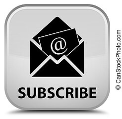 Subscribe (newsletter email icon) special white square ...