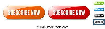 subscribe now button. key. sign. push button set - subscribe...