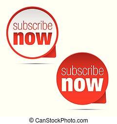 Subscribe now button sign vector