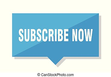 subscribe now blue square price tag