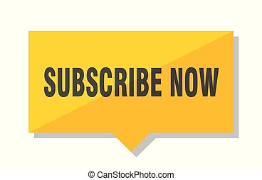 subscribe now price tag - subscribe now yellow square price ...