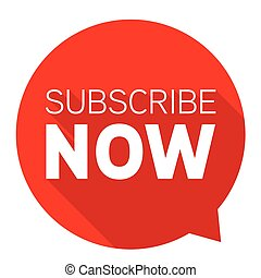 Subscribe Now red button sign