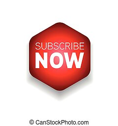 Subscribe Now red button sign vector
