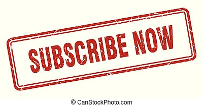 subscribe now stamp. subscribe now square grunge sign. subscribe now
