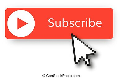 subscribe red button vector illustration red play video ...