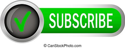 Subscribe sign on white background