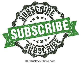 subscribe stamp. sign. seal