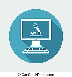 Subscribe terms and conditions - Vector flat icon