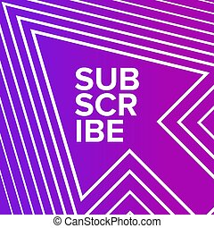 Subscribe vector banner on the pink background