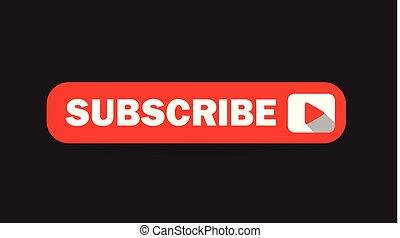 Subscribe Vector Button