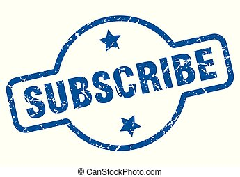 subscribe vintage stamp. subscribe sign