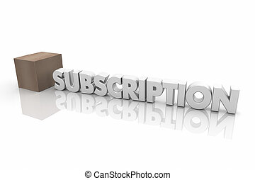 Subscription Box Service Delivery Word 3d Illustration