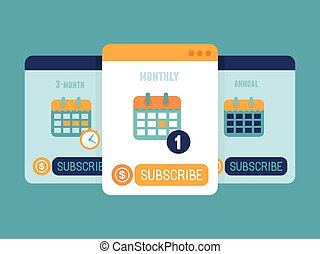 Subscription business model - Vector subscription business...