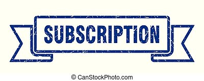 subscription grunge ribbon. subscription sign. subscription banner