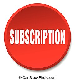 subscription red round flat isolated push button