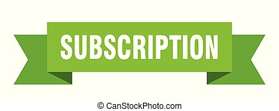 subscription ribbon. subscription isolated sign. subscription banner