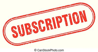 subscription stamp. subscription square grunge sign. subscription
