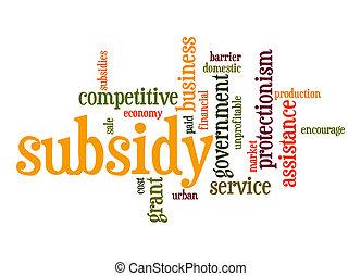 Subsidy word cloud