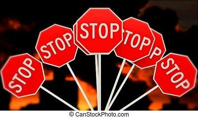 substances., planet., global, arrêt, warming., nuisible, émissions, 30., pollution