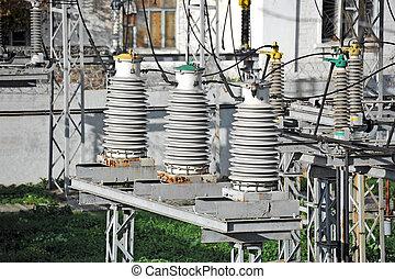substation, alto, ac, voltagem