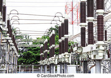 Substation electric power high voltage