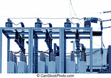 Substation equipment, blue tone picture