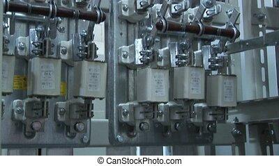 substation., outage, wysoki-woltaż, moc