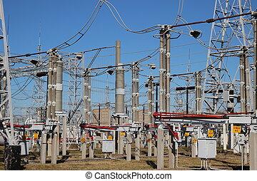 substation, parte, alto-voltagem