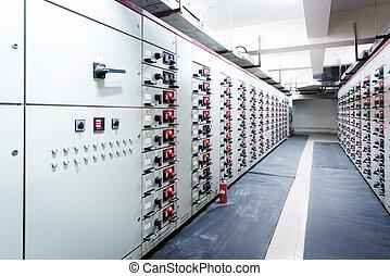 substation, poder, energia, elétrico, distribuição, plant.