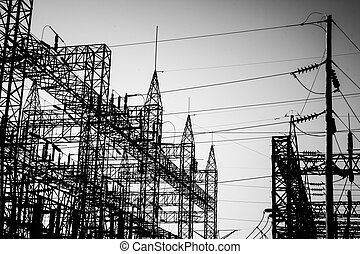Substation silhouette