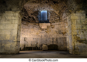 subterrâneo, antigas, sala