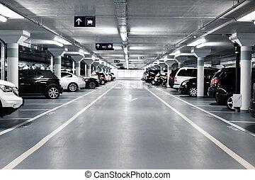 subterrâneo, estacionamento