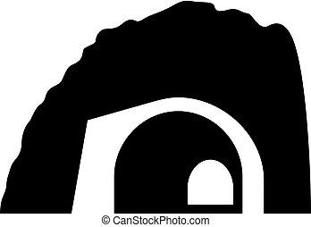 subterrâneo, passagem, túnel