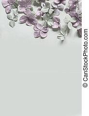 Subtle artistic floral backgrodund with hortensia flowers