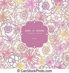 Subtle field flowers frame seamless pattern background -...