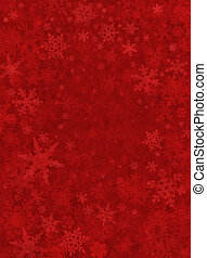 Subtle snowflakes on a dark red paper background.