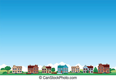 Suburb town background