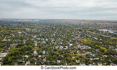 Suburb town aerial