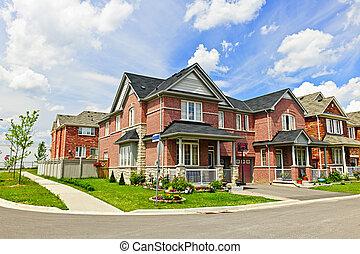 suburbain, maisons