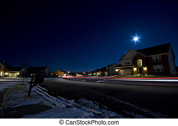 suburbain, nuit