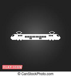 suburbain, train., électrique