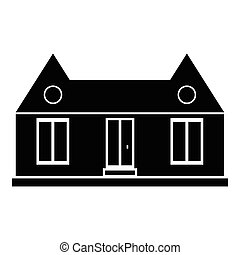 Suburban american house icon, simple style